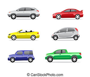 מכוניות, 3, הפרד, קבע, איקונים