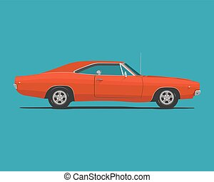 מכונית, אמריקאי, שריר, קלאסי
