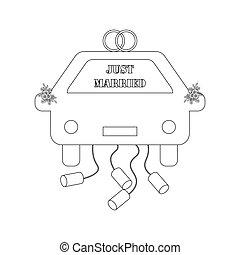 מכונית, התחתן, תאר, פשוט