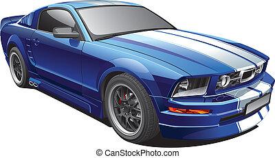 מכונית כחולה, שריר