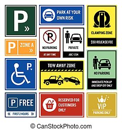 מכונית, לחנות, חנה, signboards, סימנים