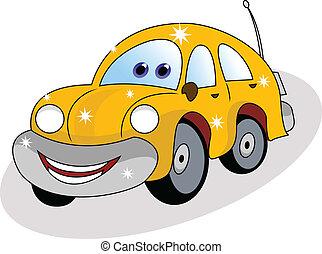 מכונית, מצחיק, צהוב