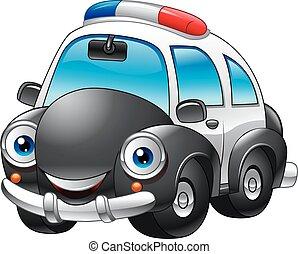 מכונית, משטרה, ציור היתולי, אופי