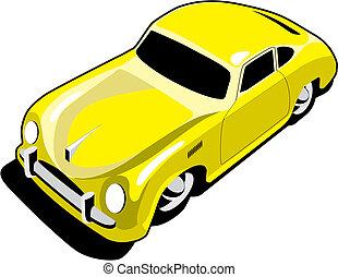 מכונית, ספורט, צהוב