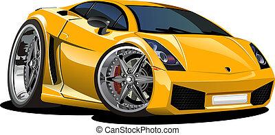 מכונית, ספורט, ציור היתולי