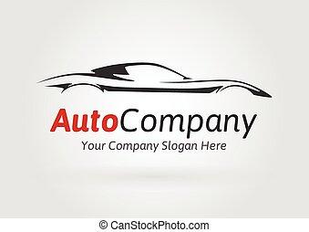 מכונית, צללית, חברה, ספורט, לוגו