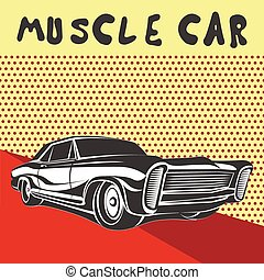 מכונית, שריר, פוסטר