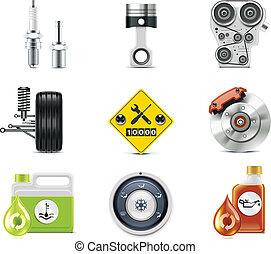 מכונית, p.3, שרת, icons.