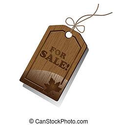 מכירות, פתק, מעץ