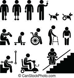 מכשול, disable, קיטע, איש של אנשים