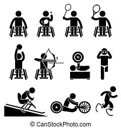 מכשול, paralympic, disable, ספורט