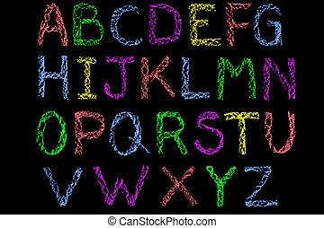 מכתבים, גיר, לוח, האנדוורוט, צבע, אלפבית