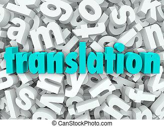 מכתב, שפה, מובן, רקע, תרגום, תרגם, 3d