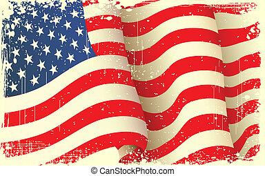 מלוכלך, לקרזל, דגל אמריקאי