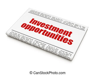 ממן, כותרת, הזדמנויות, עיתון, השקעה, concept: