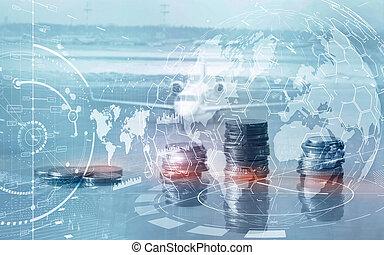ממן, מושג, marketing., אסטרטגיה, עסק, אחסן, חשיפה, להחליף, לוח הבקרה, כפיל