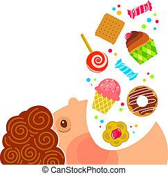 ממתקים, לאכול