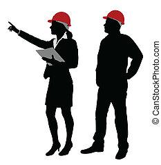 מנהל עבודה, לעבוד, הנדס