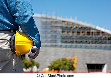 מנהל עבודה, עובד של בניה, אתר, או