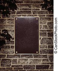 מסגרת של קיר, סימן של מתכת