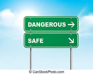 מסוכן, כספת, 3d, תמרור