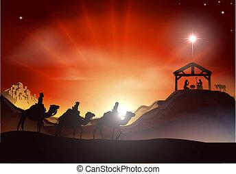 מסורתי, לידה, scen, חג המולד