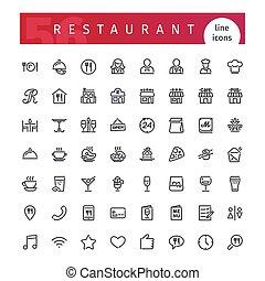 מסעדה, קו, קבע, איקונים