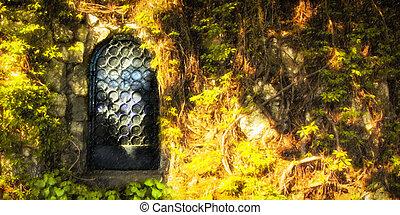 מסתורין, דלת, יער