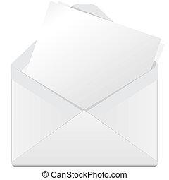 מעטפה לבנה