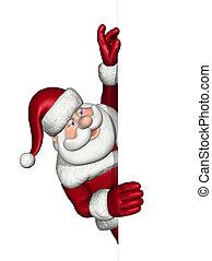 מעל, קצה, מסתכל, סנטה