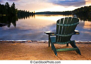 מעץ, החף כסא, שקיעה
