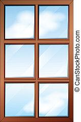 מעץ, חלון, glasspanes