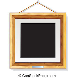 מעץ, מסגרת של צילום, דוגמה, קיר, וקטור