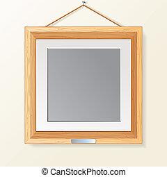 מעץ, מסגרת של צילום