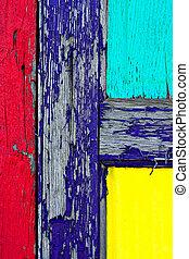 מעץ, צבע, גראנג, דלת