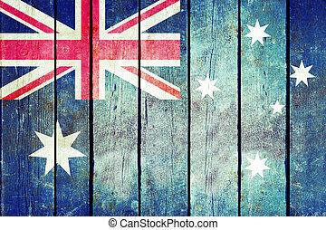 מעץ, flag., אוסטרליה, גראנג