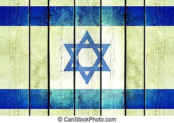 מעץ, flag., ישראל, גראנג