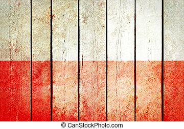 מעץ, flag., פולין, גראנג