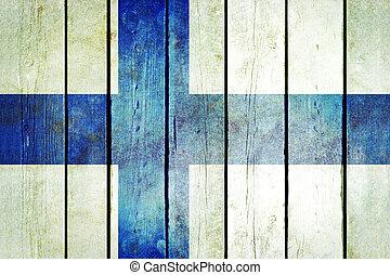 מעץ, flag., פינלנד, גראנג