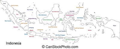 מפה, אינדונזיה, תאר