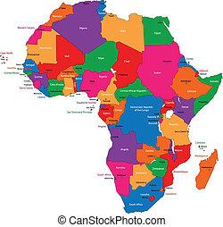 מפה, אפריקה