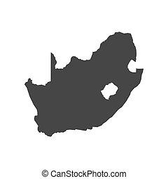 מפה, אפריקה, תאר, דרום