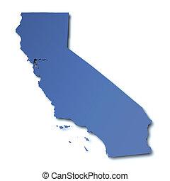 מפה, -, ארהב, קליפורניה