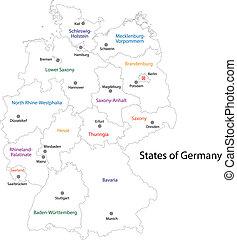 מפה, גרמניה, תאר