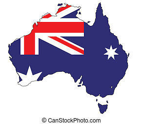 מפה, דגלל, אוסטרליה