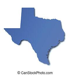 מפה, -, טקסס, ארהב