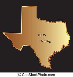 מפה, צין, זהב, טקסס