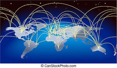 מפה רקע, מיסחר של עולם