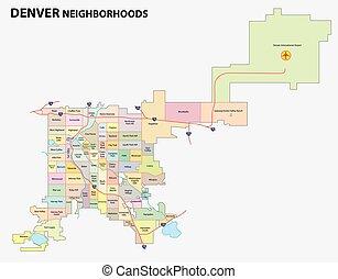 מפה, שכונה, דנבר