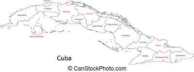 מפה, תאר, קובה